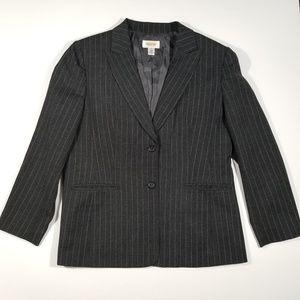 Talbots Petites Pinstripe Blazer 12